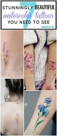 These 7 watercolor tattoos are SO GORGEOUS! I can't wait to get my own!