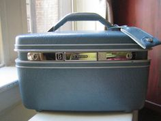 Vintage Samsonite Blue Stewardess Case  Lets Fly Away by aristlo, $35.00