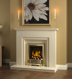 Be Modern Clara Marble Fireplace