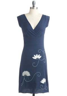 organic cotton dress, which is handmade in Nepal according to fair trade practices