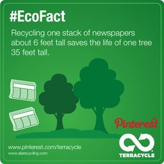 Save a tree. Recycle! #EcoFact #terracycle