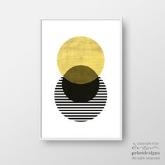 Printable Scandinavian Poster, Scandinavian Print, Minimalist Poster, Modern Circle Print, Yellow Circle Print, Modern Wall Art, Home Decor by DreamPrintDesigns on Etsy https://www.etsy.com/listing/471579126/printable-scandinavian-poster