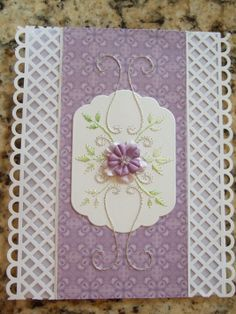 Book: New Designs, New Projects for Embordery on Paper   By Erica Forgens   Page 14   Pattern B2   Thread Sulky   Spellbinders Label 11   Martha Stewart punch for the edges