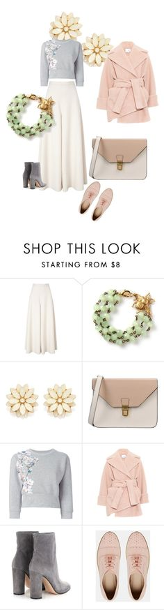 """""""Bees to Flowers."""" by clothes-wise ❤ liked on Polyvore featuring Temperley London, Forever 21, 8, Philipp Plein, Carven, Gianvito Rossi and ASOS"""