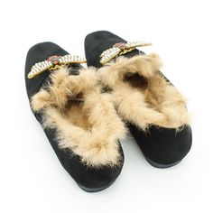 2018 Natural Rabbit Fur Pearl Bee Brand Bow Suede Women Loafers Mocassin Furry Slipony Leather Mules. Click visit to buy #WomenLoafer