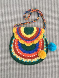 Crochet Purse, Little Bag, Little Girl Crochet Purse, Crochet Bag, Colorful Crochet Purse, Girl Gift by kroshkame on Etsy
