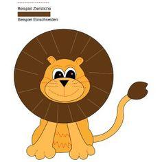 Löwe kostenlose Applikationsvorlage von Knuddelmama free applique pattern lion