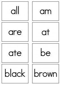pre primer sight words flash cards pinterest primer cards and free