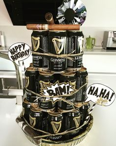 Comic Guiness Beer Can Cake 30th Birthday Husband