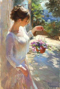 """culturenlifestyle: """" Delicate and Sensual Classical Portrait Compositions By Russian Artist Vladimir Volegov Russian Artist Vladimir Volegov paints beautiful portraits of young women and girls set in. Painting People, Woman Painting, Figure Painting, Painting Art, Oil Paintings, Light Painting, Painting Abstract, Painting Tips, Abstract Landscape"""