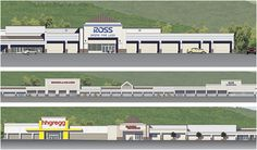 strip mall facade - Google Search