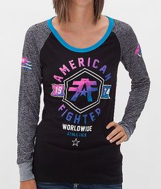 American Fighter Jacksonville T-Shirt - Women's T-Shirts in Black Silver Hawaiian Ocn American Fighter Shirts, Buckle Outfits, Retro Girls, Pants For Women, T Shirts For Women, Pajama Shirt, Country Outfits, Shirt Designs, Cute Outfits
