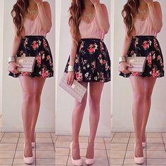 future date night ootd  #summer #australia #florals top: local | skirt
