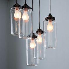 5-Jar Chandelier - contemporary - chandeliers - West Elm