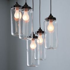 5-Jar Chandelier - contemporary - chandeliers - West Elm