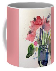 Poppy Flowers Coffee Mug by Britta Zehm. Small (11 oz.)