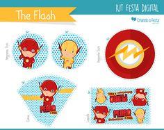 Kit festa Digital - The Flash | Criando a Festa | Elo7
