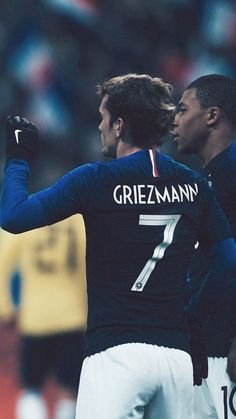 Griezmann and Mbappé for France national team Brazil Football Team, Football Is Life, Football Soccer, Antoine Griezmann, Psg, France National Team, Premier League, Football Wallpaper, Sport Man