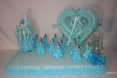 quinceanera centerpieces 2013 | Aqua or turquoise quinceanera sweet sixteen by decorateyourwedding