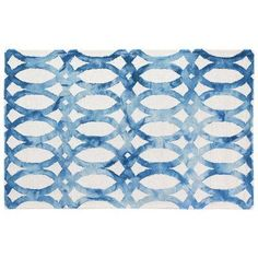 Rug Expressions Dip-Dye Hand-Tufted Blue Area Rug Rug Size: