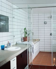 Look We Love: Concrete in the Bathroom