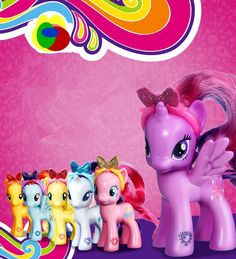 certified products my cute pony patroled PVC Unicorn Poni toy horse soft cloud Suite doll toys for Children product