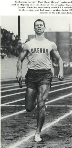 Oregon track athlete Dave Bunt 1963. From the 1963 Oregana (University of Oregon yearbook). www.CampusAttic.com