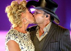 Faith Hill and Tim McGraw share a kiss onstage at the CMT Music Awards on April 14, 2008.  Photo Credit: Jeff Kravitz/FilmMagic