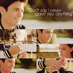 One Tree Hill - Nathan Scott - Haley James Scott - Don't say I never gave you anything Nathan Scott, Nathan Haley, James Scott, James 3, Peyton Sawyer, Movies And Tv Shows, Movies Showing, One Tree Hill Quotes, James Lafferty