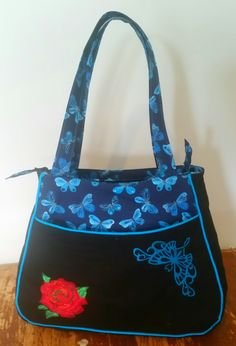 Custom butterfly Ethel tote bag