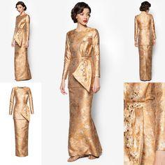 Karel Baju Kurung, Jovian Mandagie for Zalora Muslim Fashion, Modest Fashion, Hijab Fashion, Modest Dresses, Bridesmaid Dresses, Formal Dresses, Bridesmaids, Traditional Fashion, Traditional Dresses
