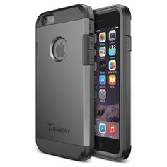 iPhone 6 Case, Trianium [Duranium Series] Heavy Duty Shock Absorbing Ultra Protective Hard Case with Built-in Screen Protector for iPhone 6 (4.7-Inch) [Black/Gray](TMWS6CASE02)