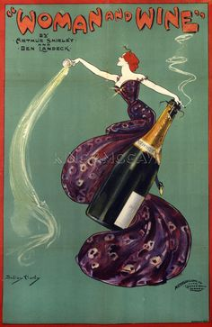 Woman and Wine, 1899 Art Print by Dudley Hardy at King & McGaw