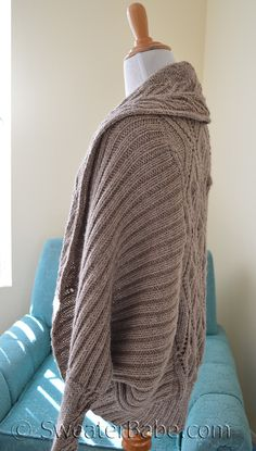 Ravelry: #191 Tabitha Cocoon Cardigan by SweaterBabe