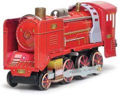 1908 Locomotive Old Train Tin Toy Windup