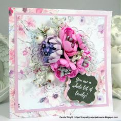 You are a whole lot of lovely! YES you are! FabScraps C105 Memory Lane collection.