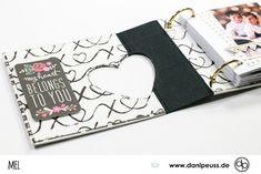 Diy Mini Album, Mini Albums, Project Life Scrapbook, Scrapbook Albums, Projects, Stuff Stuff, Stamping, Valentines Day, Tutorials