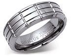 8mm Tungsten Carbide Dense Grid Ring