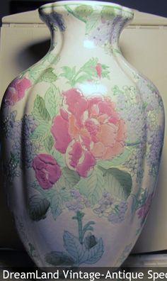 "1960-70's Chinese Vase  11.5"" x 7"" embossed flower vase, marked $60 - MAKE $ OFFER DreamLandSpecialties@comcast.net"