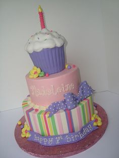 cupcake first birthday by Let There Be Cake, via Flickr