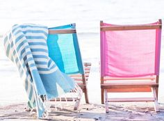 Relaxing Beach Chairs. @Tracey C   You know which chair is mine and which is yours.