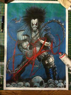 #Lobo painting