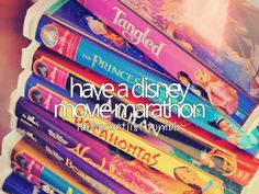 have a disney movie marathon