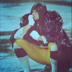 In the rain with one of the NFL's all-time greatest linebackers--and a childhood hero of mine--Jack Ham of the Pittsburgh Steelers.