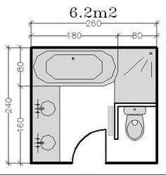 18 plans de salle de bains de 5 à 11 m² : conseils d'architecte - CôtéMaison.fr éloigner la douche de la toilette et y insérer une porte pour accès à ma chambre: