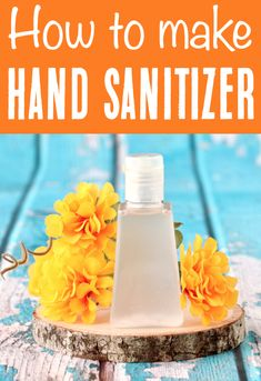 DIY Hand Sanitizer Recipe with Essential Oils!  How to make your own at home!  You'll never run out of sanitizer again when you know how to make it yourself!  It's so EASY! Just a few simple ingredients, and you're done!  Go grab the recipe and give it a try this week!