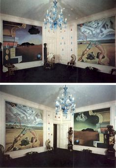 salvador dali painted panels for helena rubinstein's new york apartment