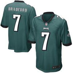 Nike Eagles #7 Sam Bradford Midnight Green Team Color Men's Stitched NFL New Limited Jersey