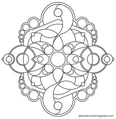 Mandala Coloring Page: Spliced from geometrycoloringpages.com