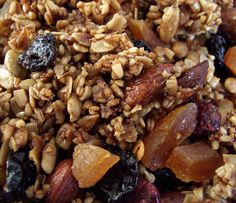 This granola is awesome and crunchy. Don't bake it the full 50mins though...it seems over done.